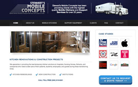 Stewarts Mobile Concepts Website Design