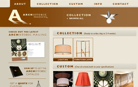 Archistoric Products Website Design