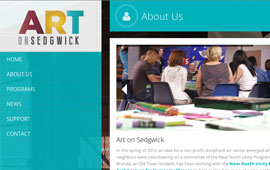 Art on Sedgwick Website Design