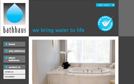 Bathhaus Website Design