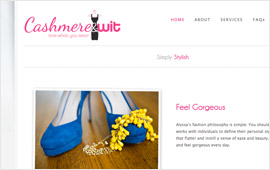 Cashmere & Wit Website Design