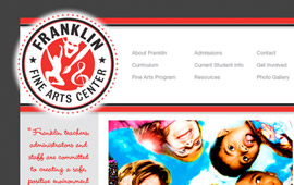 Franklin Fine Arts Website Design
