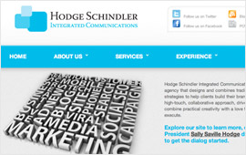 Hodge Schindler Integrated Communications Website Design