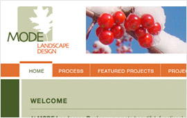 Mode Landscape Design Website Design