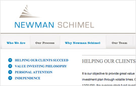Newman Schimel Website Design