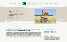 Reproductive Law Center Website Design