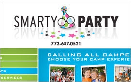 Smarty Party Website Design