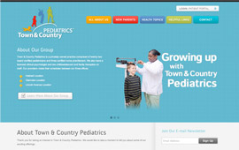 Town & Country Pediatrics Website Design