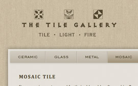 The Tile Gallery Website Design