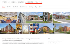 Worn Jerabek Wiltse Architecture Website Design