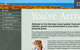 Zimmerman Wealth Management Website Design